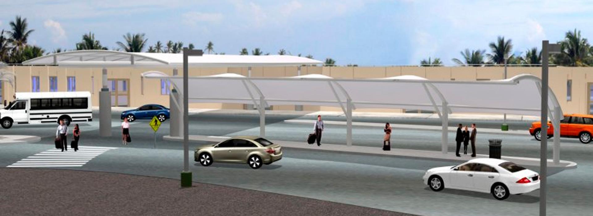 Sarasota Bradenton Airport Curbside Canopies – Birdair