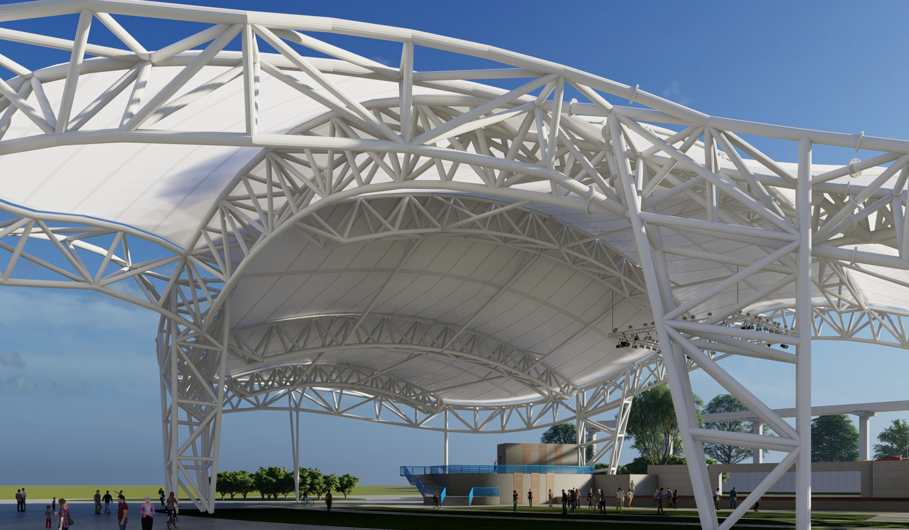 Birdair Tensioned Membrane Roof Tensotherm PTFE